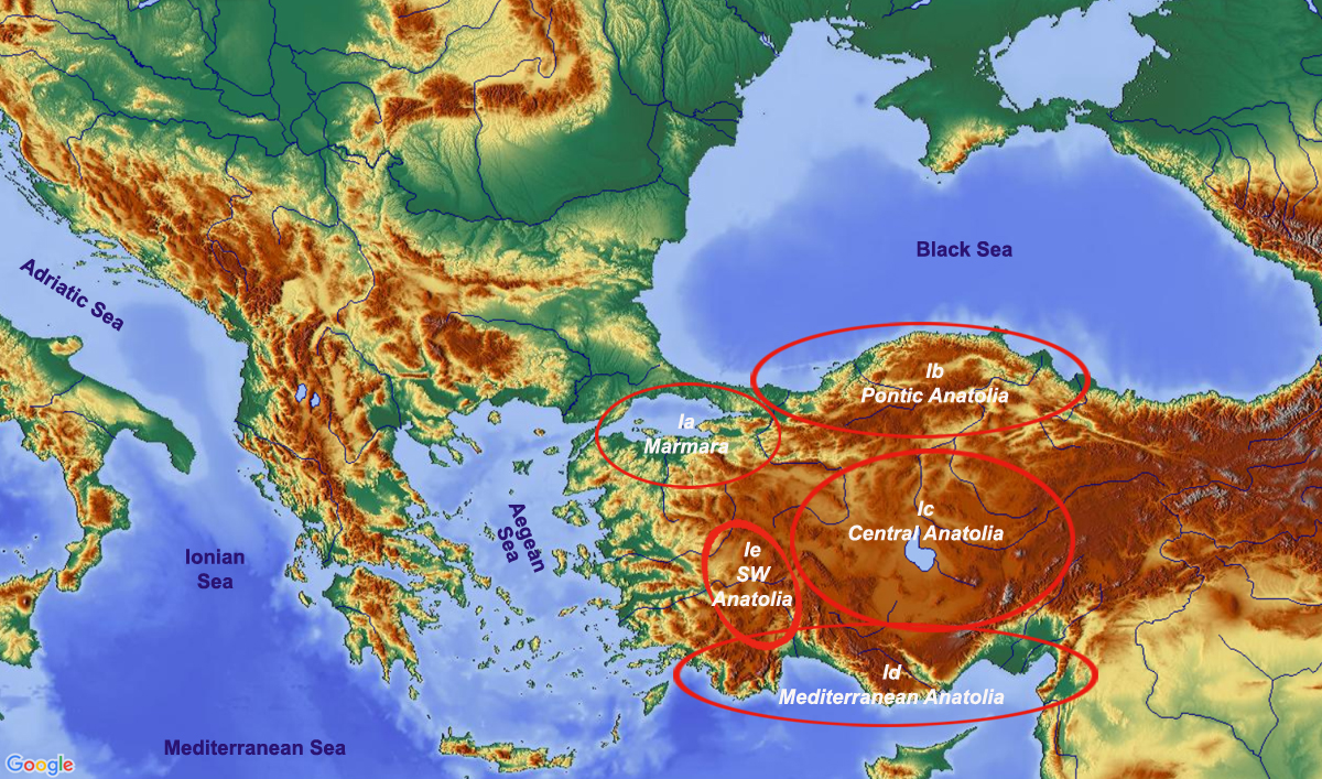 Anatolian Peninsula Map